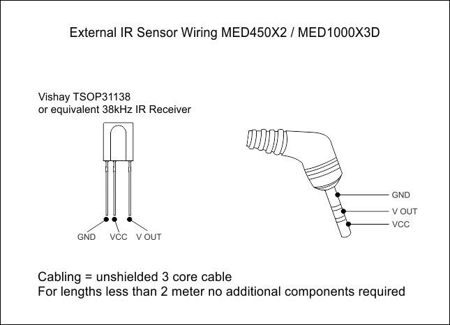 xantech ir receiver wiring diagram smart wiring diagrams \u2022 tivo ir receiver external ir sensor wiring med450x2 med1000x3d rh mede8erforum com xantech ir extender ir kit